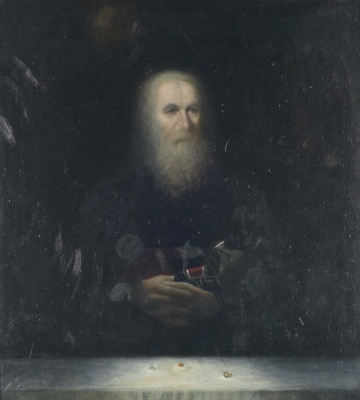 Vse, kar ostane / All that remains, olje na platnu / oil on canvas, 1989, 100x80 cm
