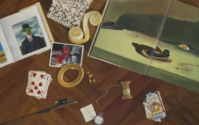Pet čutov / Five senses, olje na platnu / oil on canvas, 1980, 50x77 cm