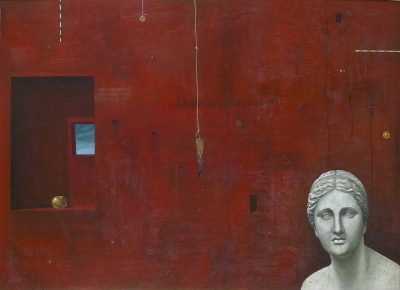Sodba / Judgement, olje, les / oil on wood, 1989, 50x70 cm