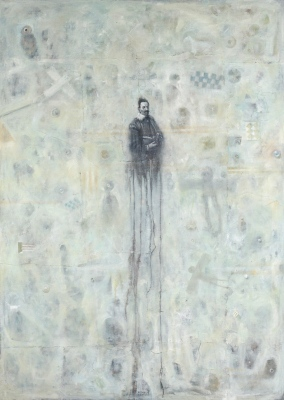Igralec / Actor, olje na platno / oil on canvas, 1996, 140x100 cm