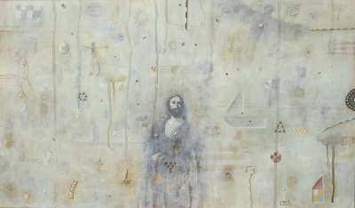 Palimpsest II, olje na platno / oil on canvas, 1996, 30x60 cm